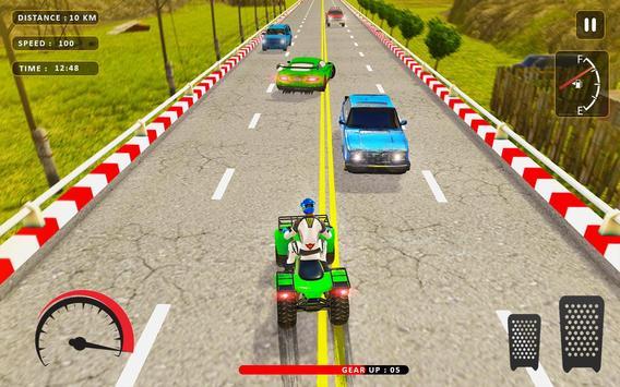 Quad ATV Traffic Racer screenshot 13