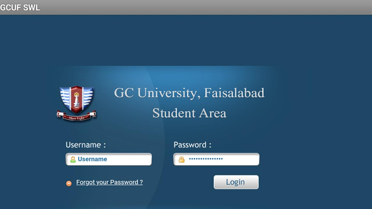 GCUF Portal App (Sahiwal Campus) for Android - APK Download