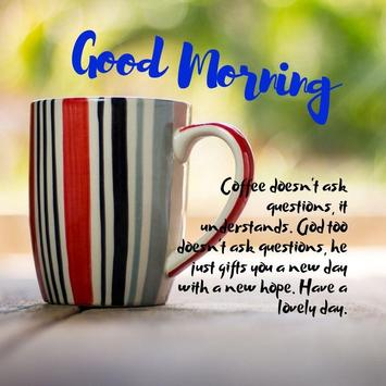 Good Morning Coffee Quotes poster
