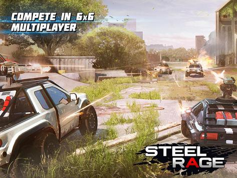 Steel Rage: Robot Cars PvP Shooter Warfare screenshot 10
