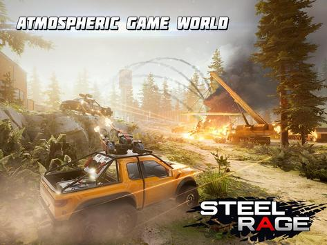 Steel Rage: Robot Cars PvP Shooter Warfare screenshot 12