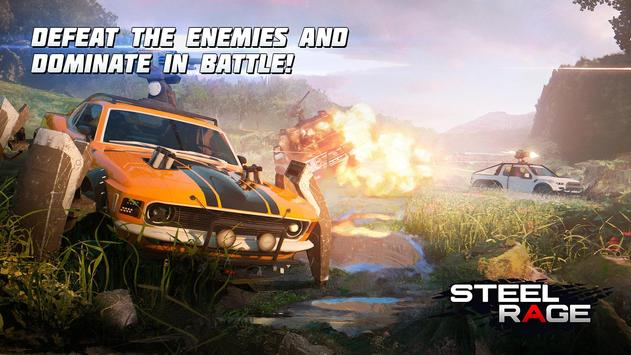 Steel Rage: Robot Cars PvP Shooter Warfare screenshot 1