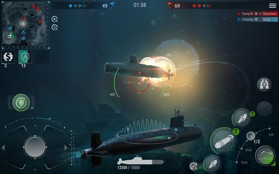 WORLD of SUBMARINES: Navy PvP ảnh chụp màn hình 9