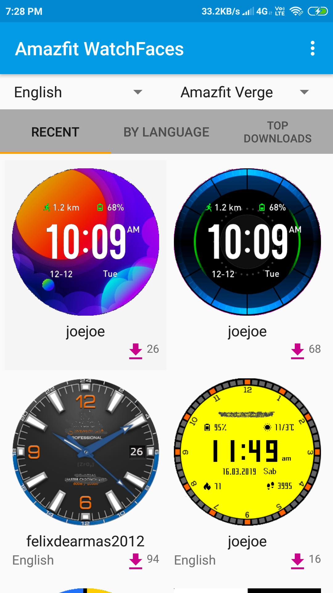 Watchface for Amazfit (Cor, Verge, Stratos, Pace) for