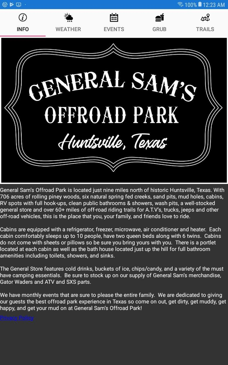 General Sam's OffRoad Park for Android - APK Download