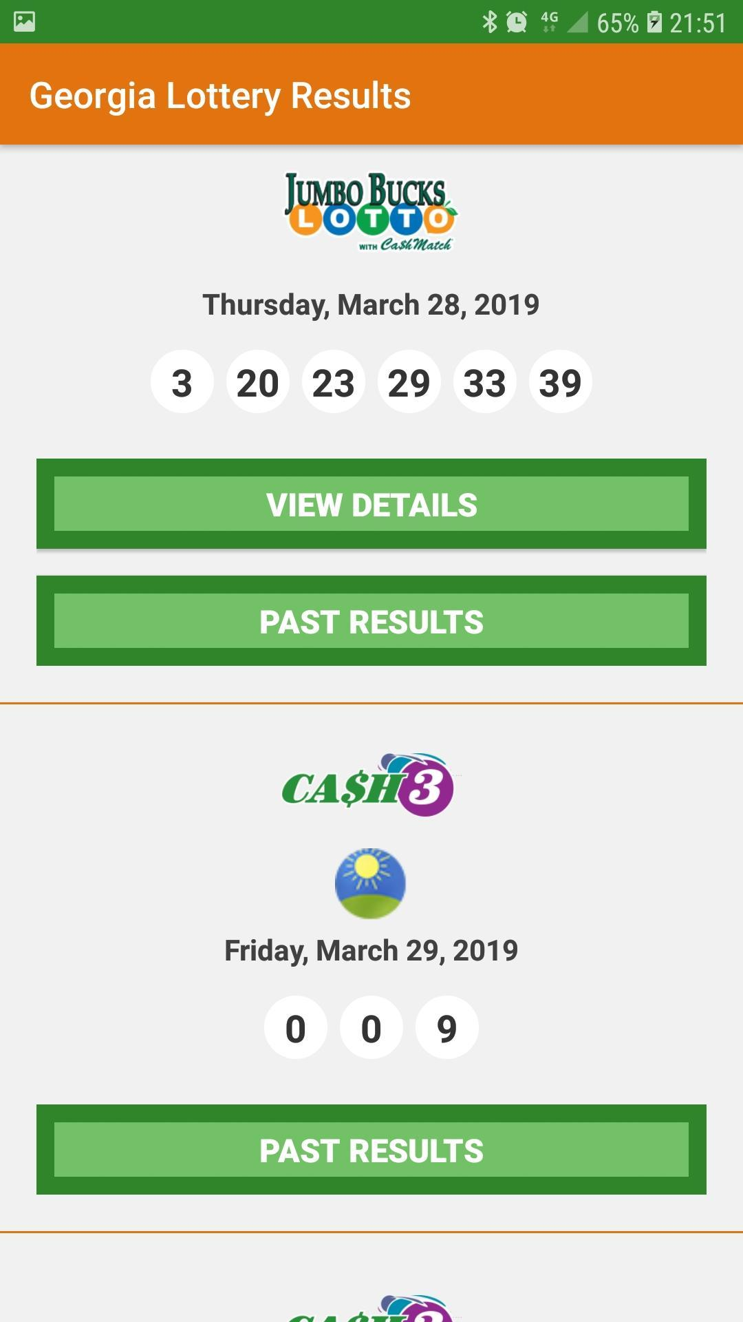 Georgia Lottery Results for Android - APK Download