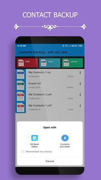Contact Backup screenshot 2