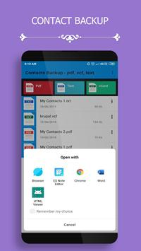 Contact Backup screenshot 3