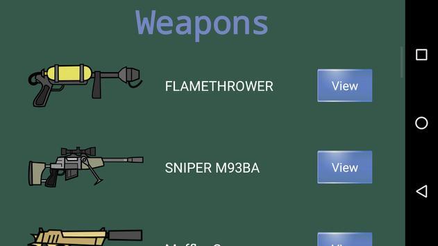 Weapon Doodle Mini Militia 2 Army military guns poster