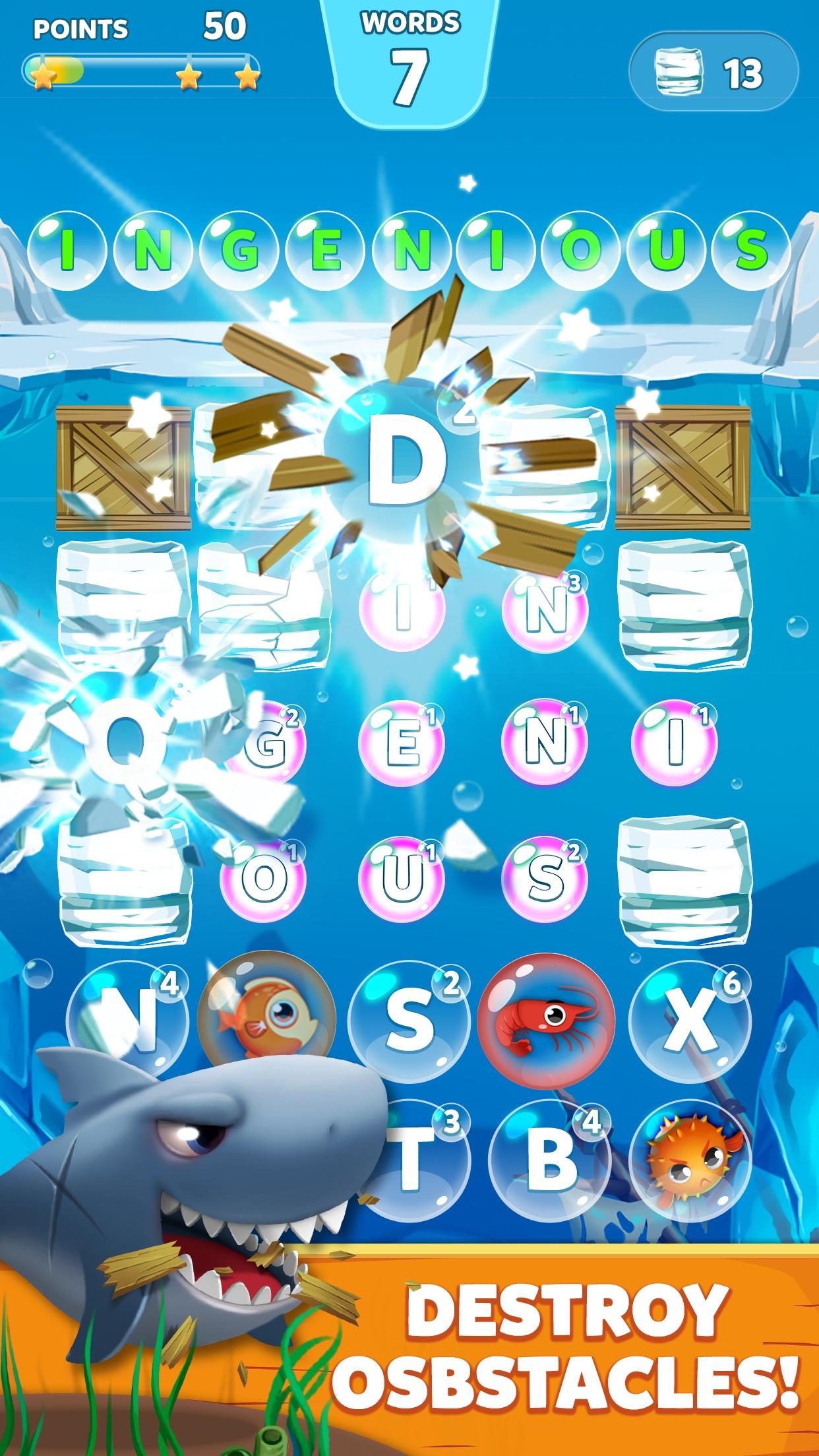 Bubble Words - Word Games Puzzle screenshot 1