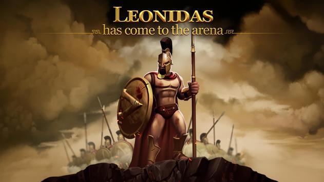 Gladiator Heroes - لعبة استراتيجية الملصق