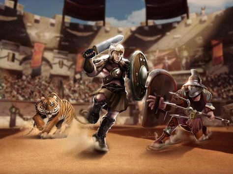 Gladiator Heroes - لعبة استراتيجية تصوير الشاشة 11