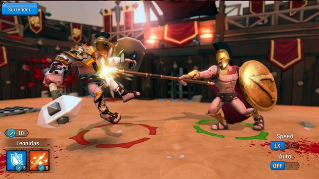 Gladiator Heroes - لعبة استراتيجية تصوير الشاشة 6