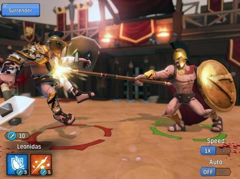 Gladiator Heroes Clash: Fighting and Strategy Game Ekran Görüntüsü 14