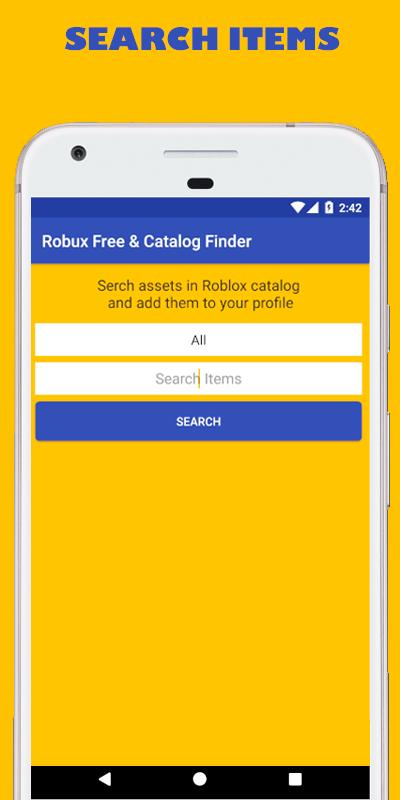 Robux Free tips and Catalog Items finder – 2018 for Android
