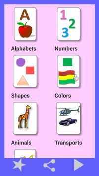 Kids  flashcard game poster