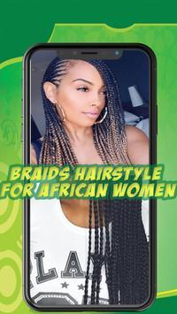 Best African braids - Hairstyle for african women screenshot 1