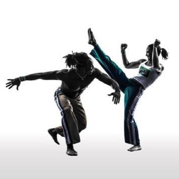capoeira martial movement poster