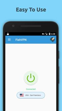 Free VPN Unlimited Proxy By FishVPN screenshot 2