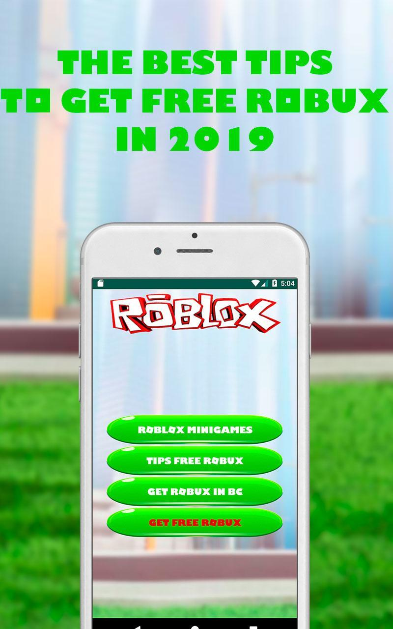 Robux Como Conseguir Robux Gratis 2019 Tips For Android Apk