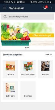 Sabasetail online shop screenshot 2