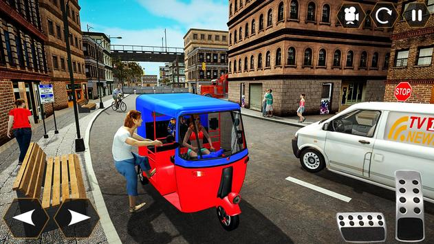 Tuk Tuk Autorickshaw: Taxi City Stunts Driver 2020 screenshot 3