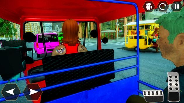 Tuk Tuk Autorickshaw: Taxi City Stunts Driver 2020 screenshot 1