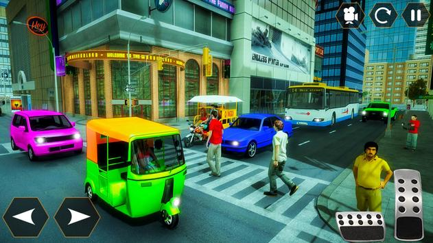 Tuk Tuk Autorickshaw: Taxi City Stunts Driver 2020 screenshot 2