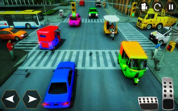 Tuk Tuk Autorickshaw: Taxi City Stunts Driver 2020 screenshot 4