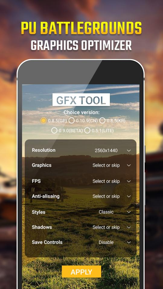 GFX - BAGT Graphics HDR Tool (No Ban) for Android - APK Download