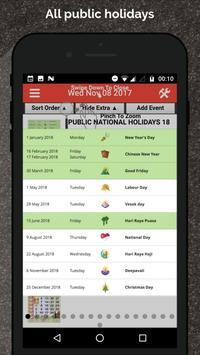 Singapore Calendar Horse 2020 screenshot 5