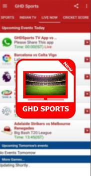 Guide For GHD SPORTS - Free Live TV Hd poster