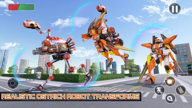Ostrich Robot Car Transform War poster