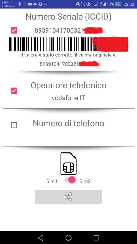 sim card serial number (iccid)