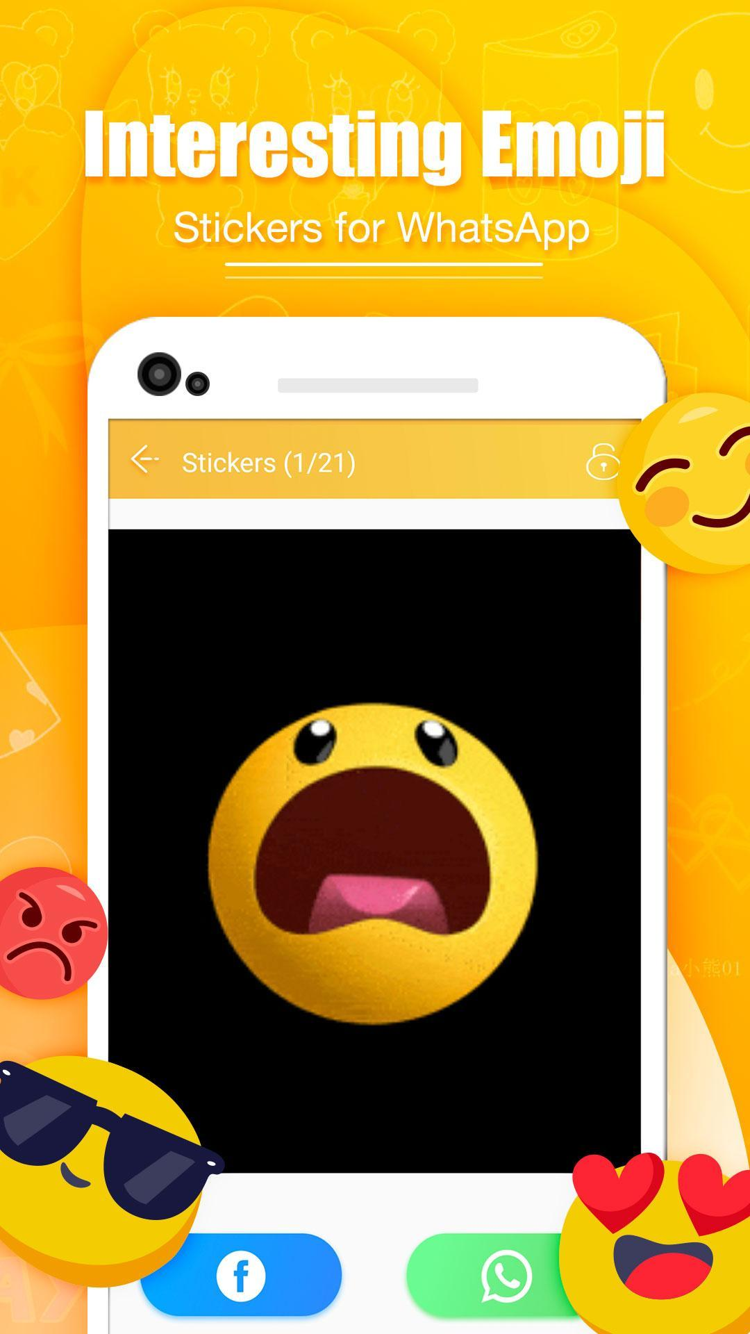 Android Icin Funny Gif Stickers For Whatsapp Apk Yi Indir