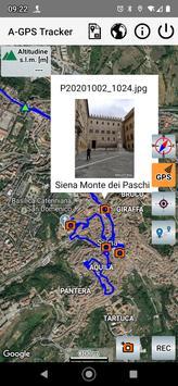 A-GPS Tracker captura de pantalla 3