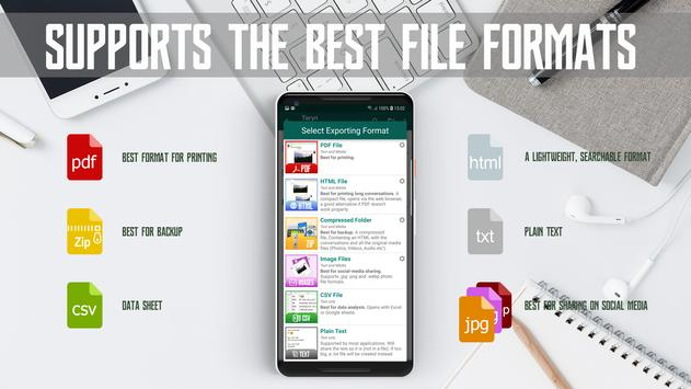 🔥Exporter For WhatsApp-Print,Backup,export to PDF for