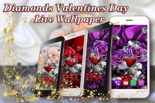Diamonds Valentines Day live wallpaper screenshot 3