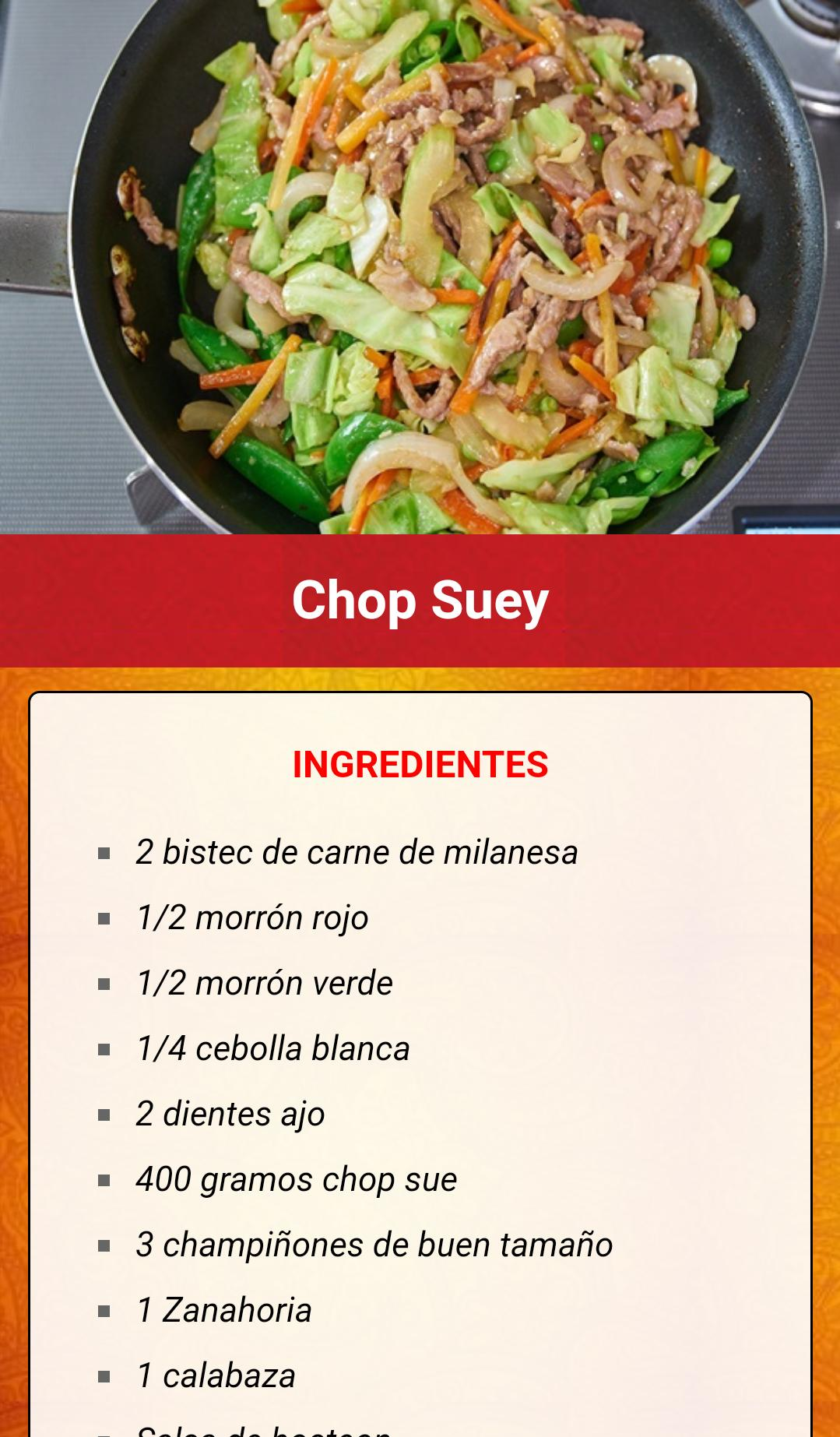 Recetas Comida China For Android Apk Download