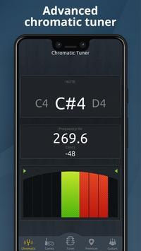 Chromatic Guitar Tuner Free: Ukulele, Bass, Violin screenshot 2