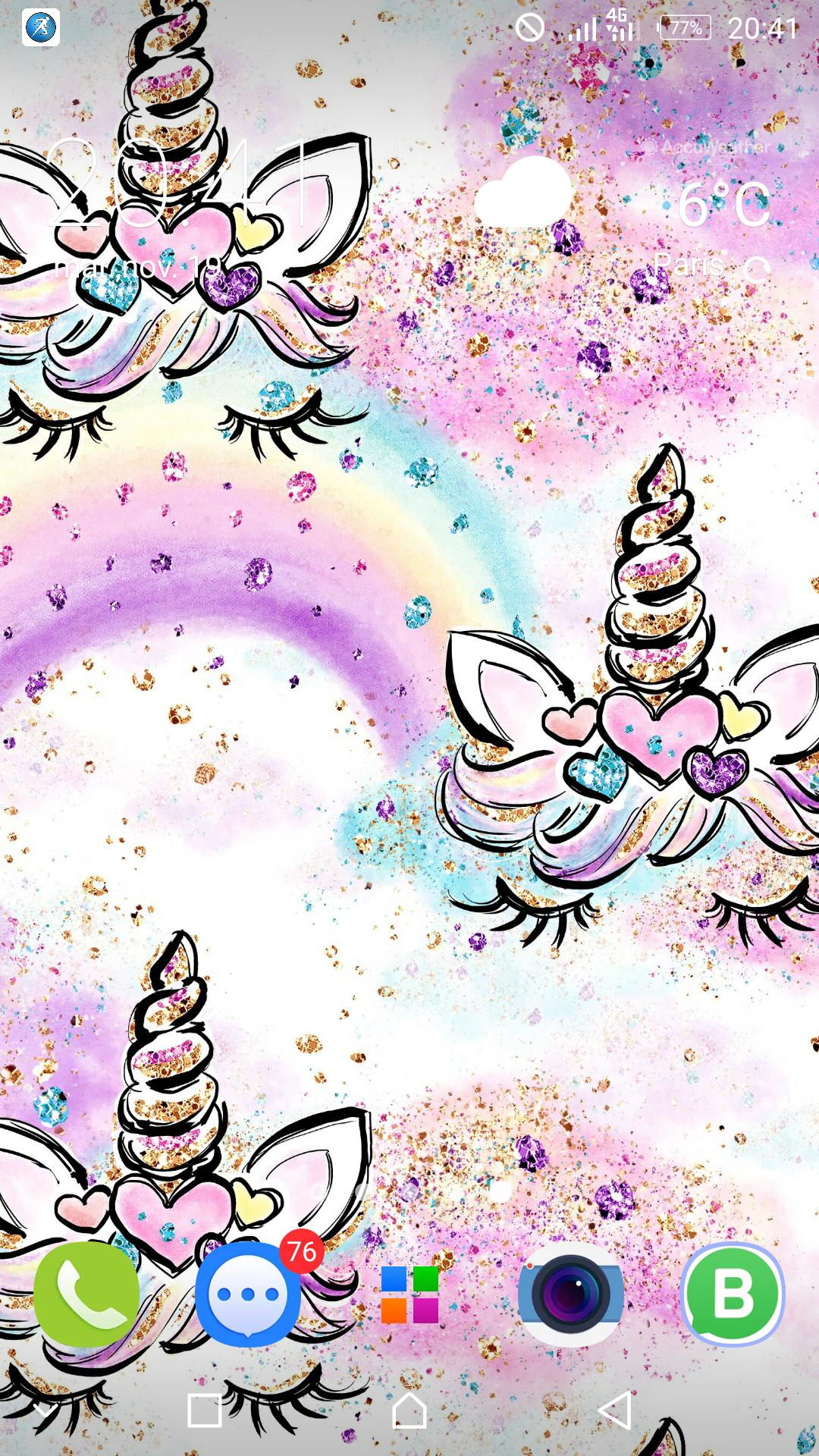 Cute Unicorn Girl Wallpapers Kawaii Backgrounds For Android Apk Download