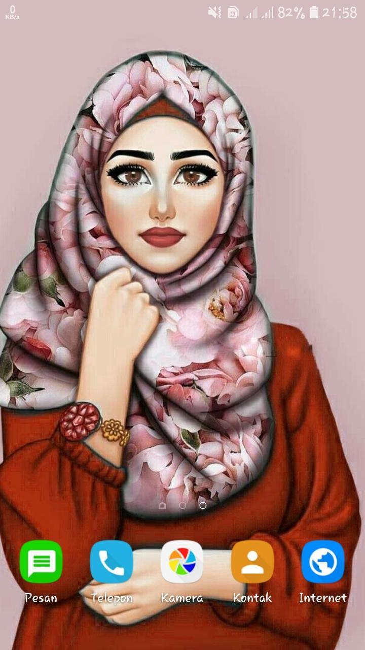 Girly Muslim Wallpaper Cartoon Hijab For Android Apk Download
