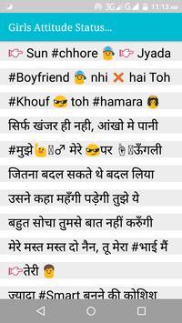 Girls Status | Girls Attitude Status In Hindi 2019 poster
