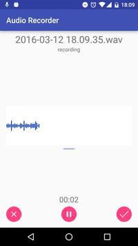 Audio Recorder capture d'écran 1