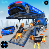 US Police Multi Level Transporter Truck Games icon