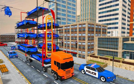US Police Multi Level Transporter Truck Games screenshot 6