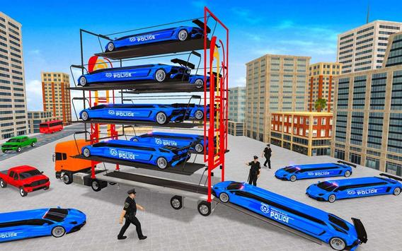 US Police Multi Level Transporter Truck Games screenshot 9