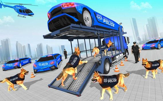 US Police Multi Level Transporter Truck Games poster