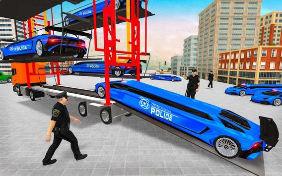 US Police Multi Level Transporter Truck Games screenshot 3