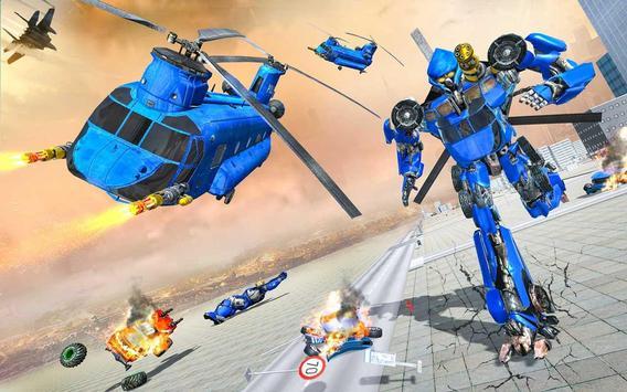 Grand Cargo Helicopter Robot Battle screenshot 11